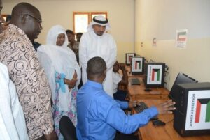 Kuwait launches computer center for visually impaired students
